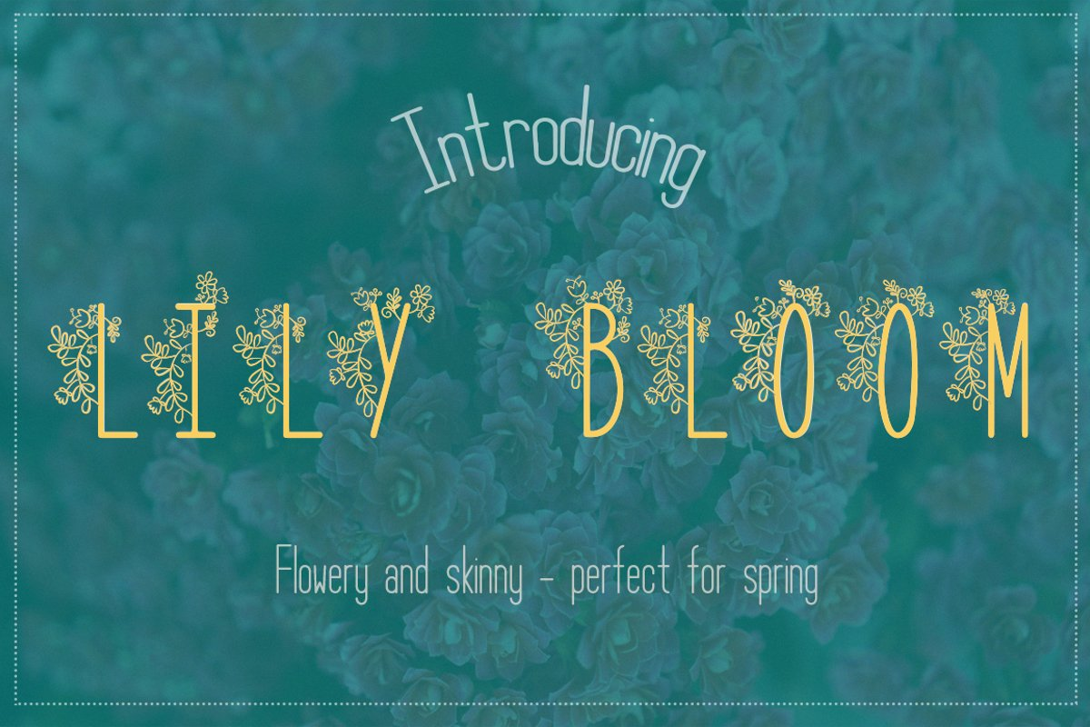 Lily Bloom Flowery Font example image 1