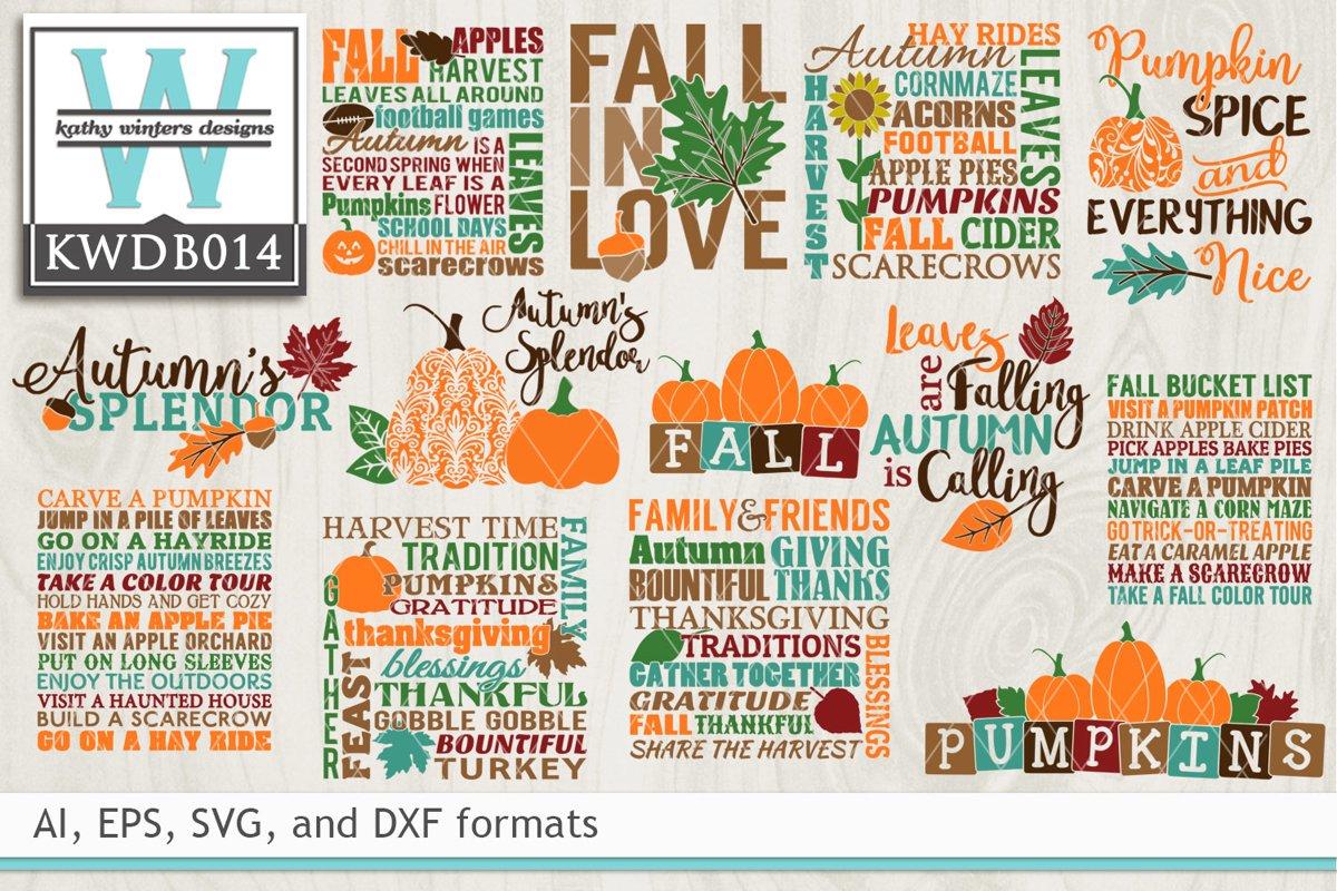 BUNDLED Autumn Cutting Files KWDB014 example image 1