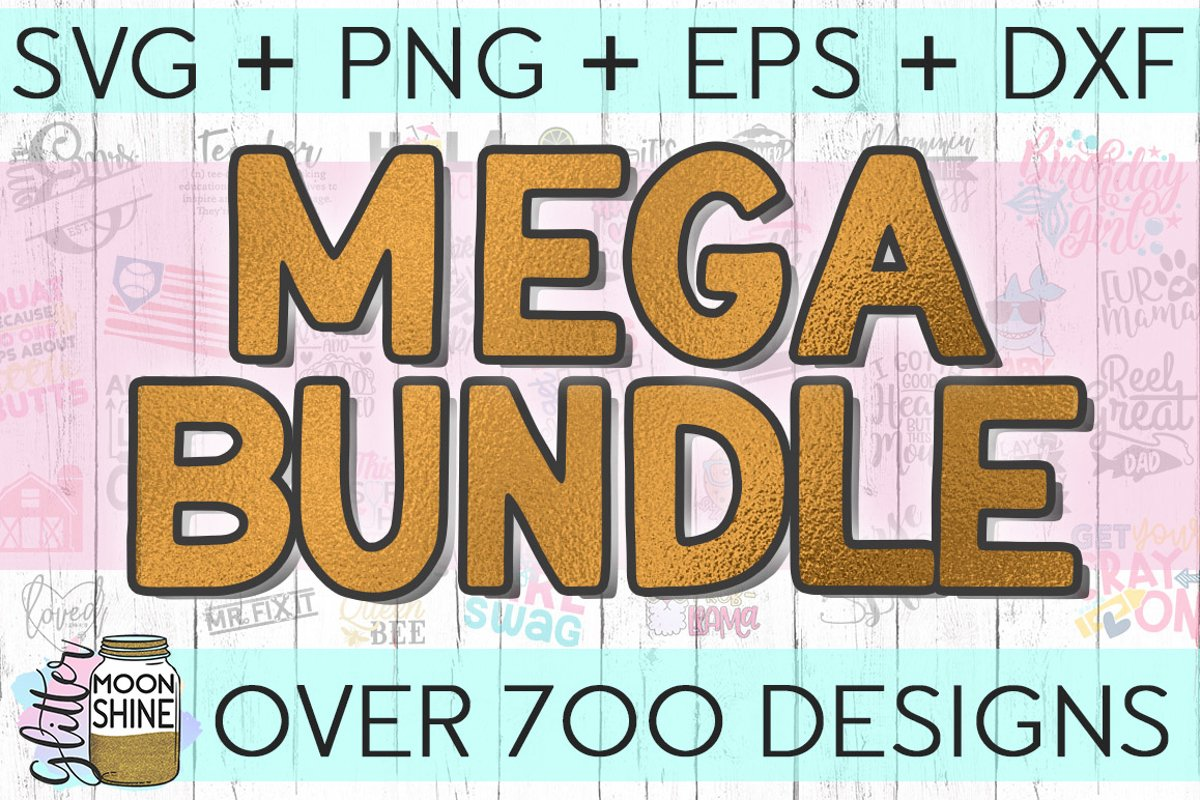 MEGA Bundle Over 700 SVG DXF PNG EPS Cutting Files example image 1