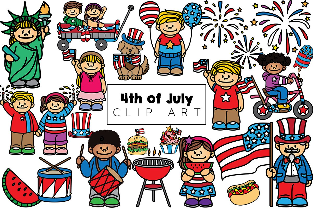 Fourth of July Clip Art example image 1