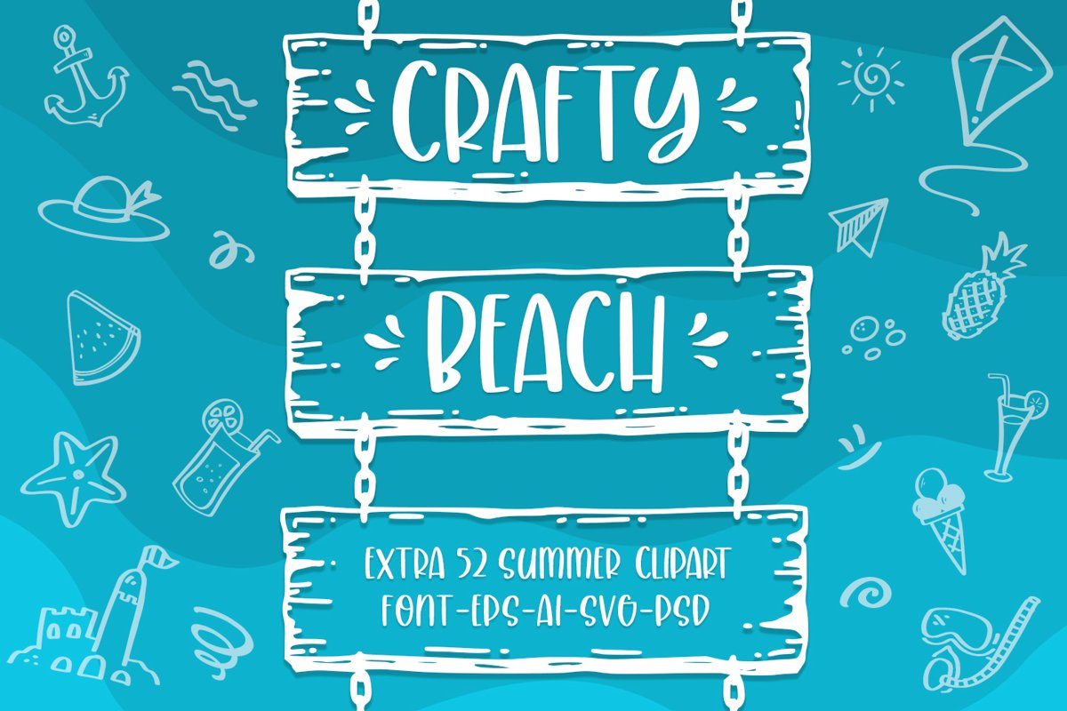 Crafty Beach -extra summer clipart- example image 1