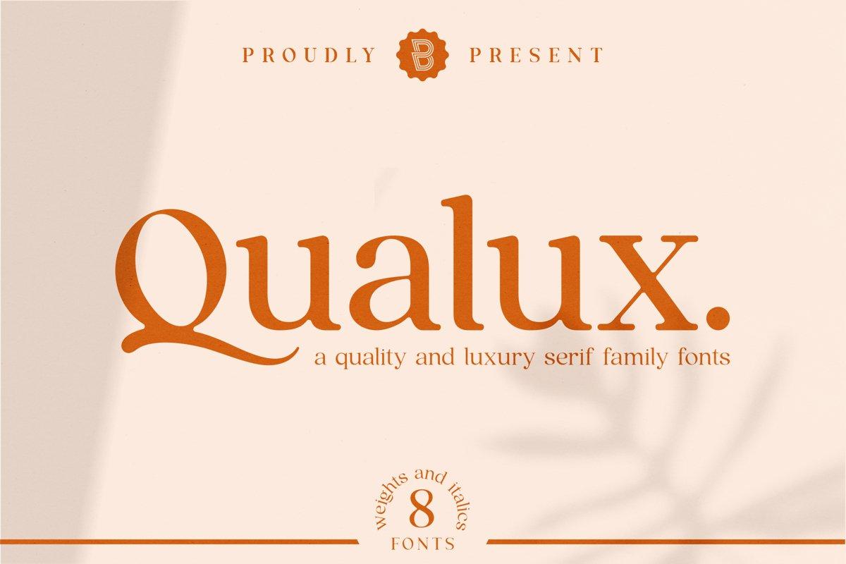 Qualux - Serif Family Fonts example image 1