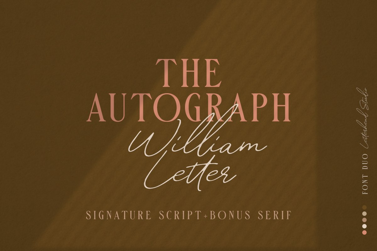 William Letter Signature Script example image 1