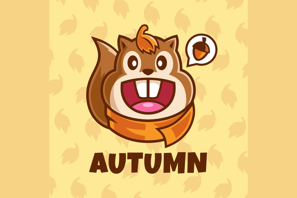 Smiling Squirrel cartoon character illustration example image 1