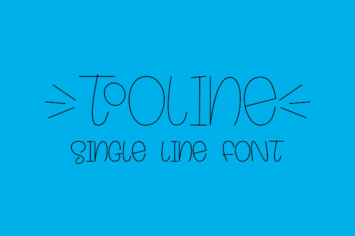 Tooline - Single Line - Hair Line Font example image 1