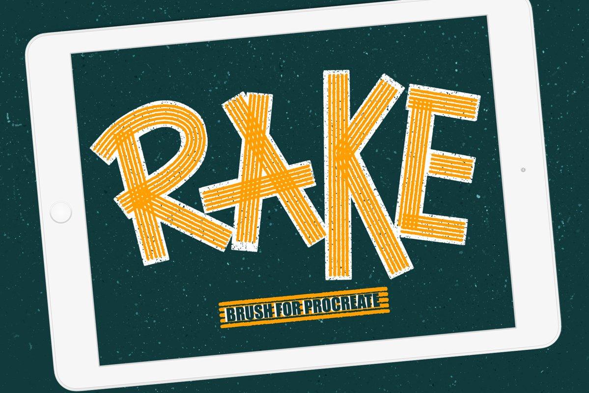 Rake brush for procreate example image 1