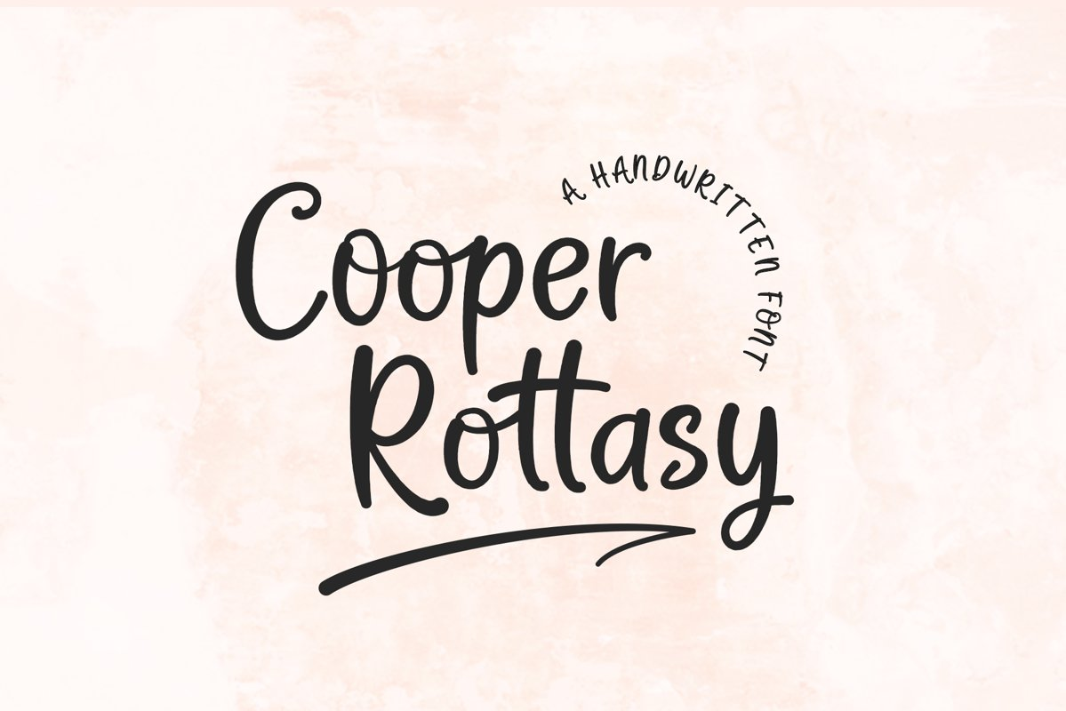 Cooper Rottasy - A Handwritten Font example image 1