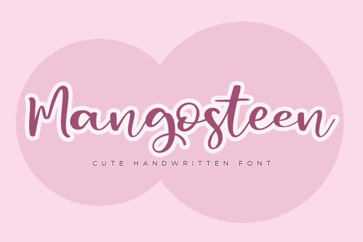Mangosteen a Cute Handwritten Script Font example image 1