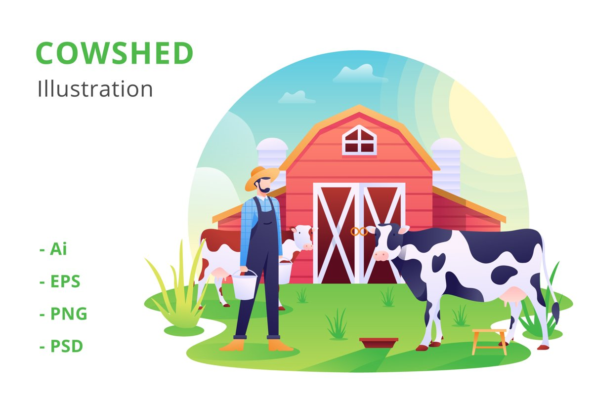 Cowshed Illustration example image 1