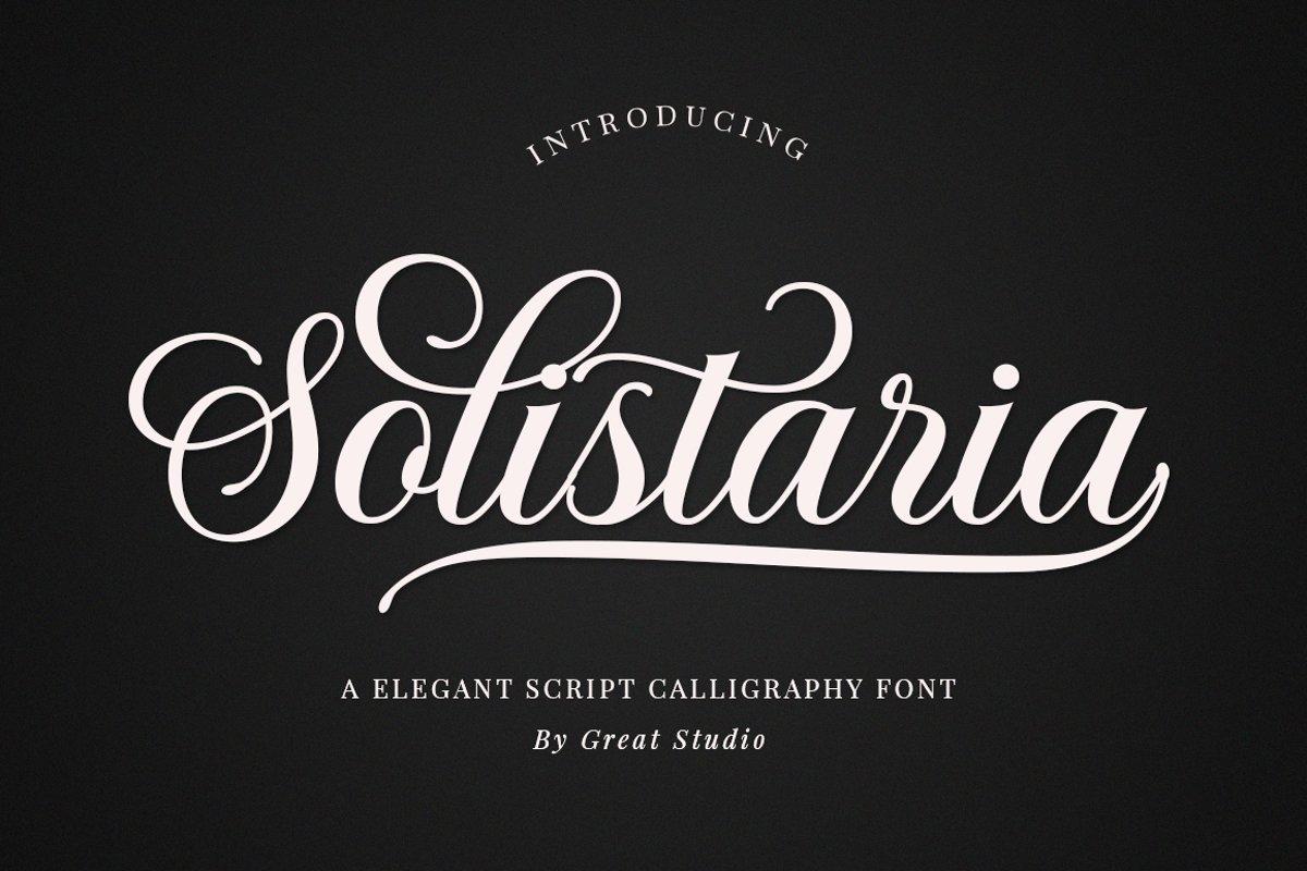 Solistaria-Elegant Calligraphy Font example image 1