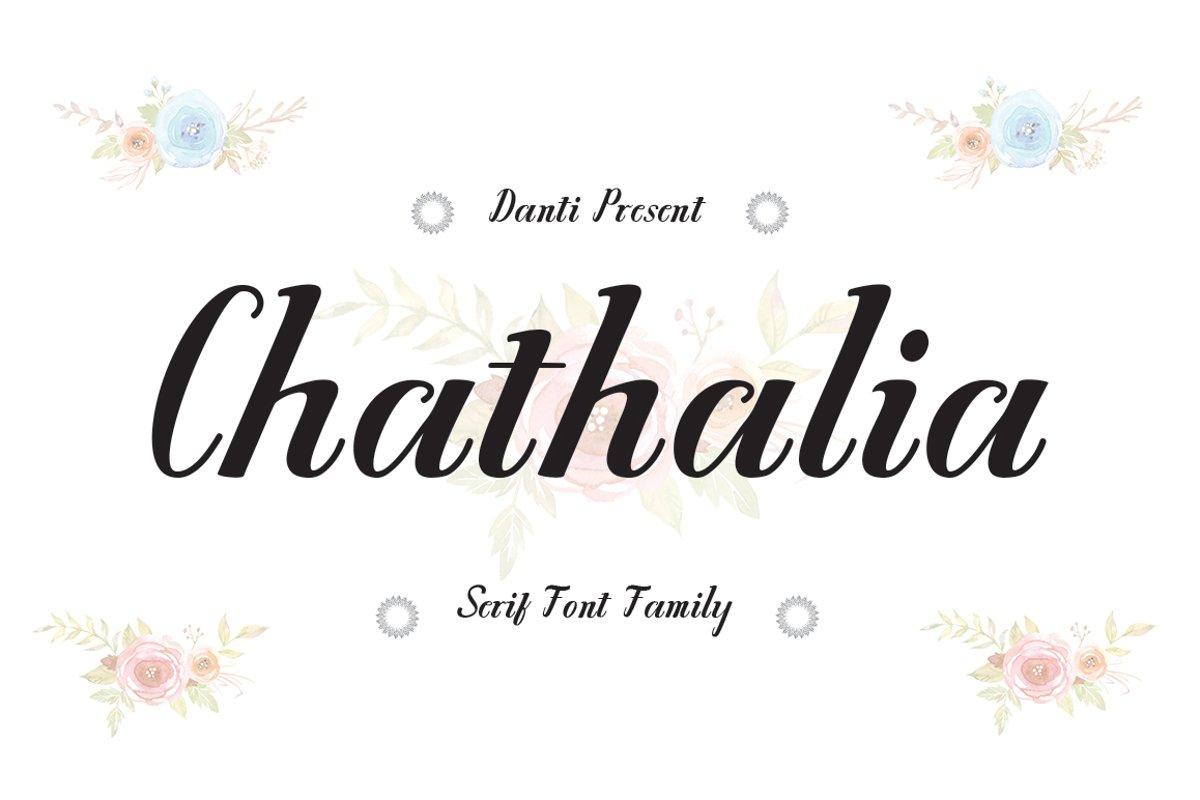 Chathalia Font Family example image 1