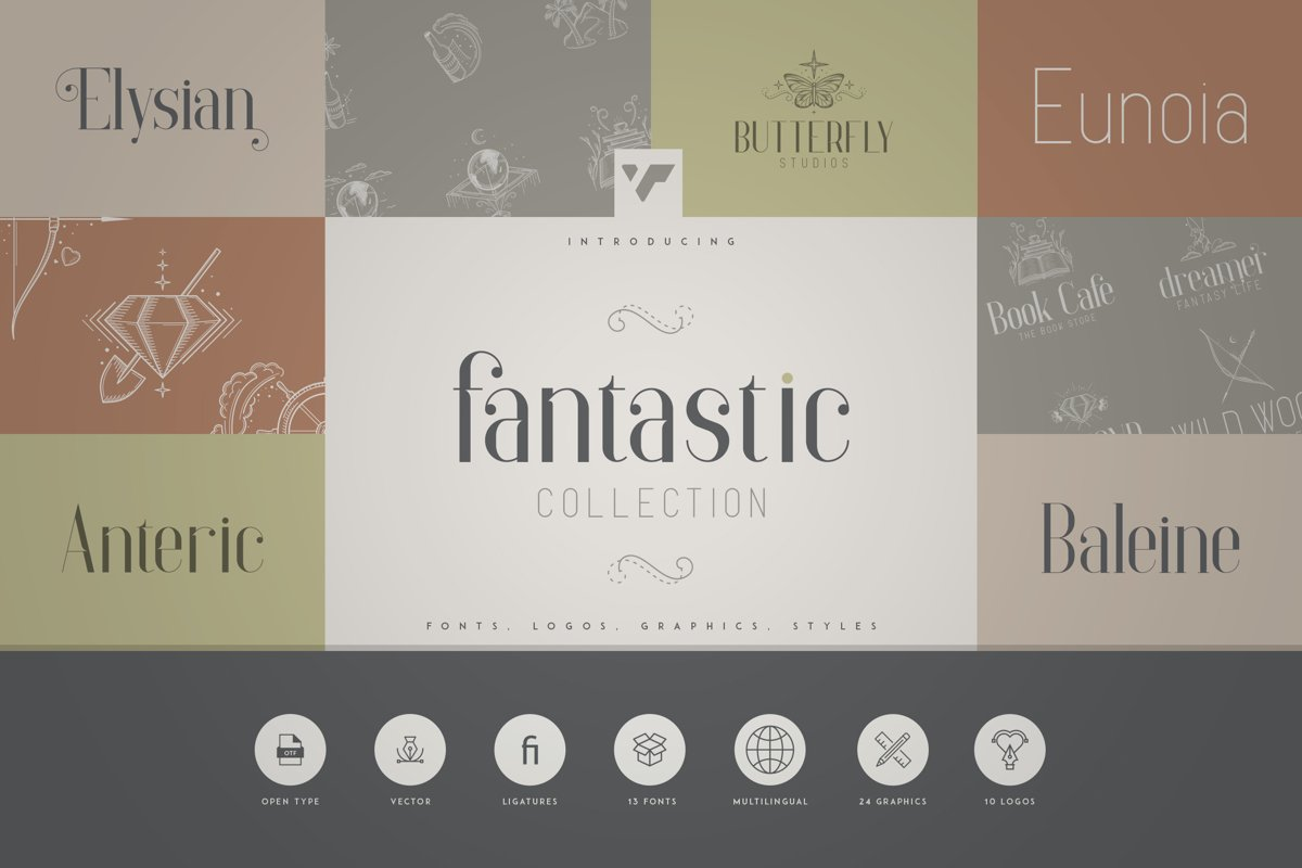 Fantastic Collection - Fonts, Logos example image 1