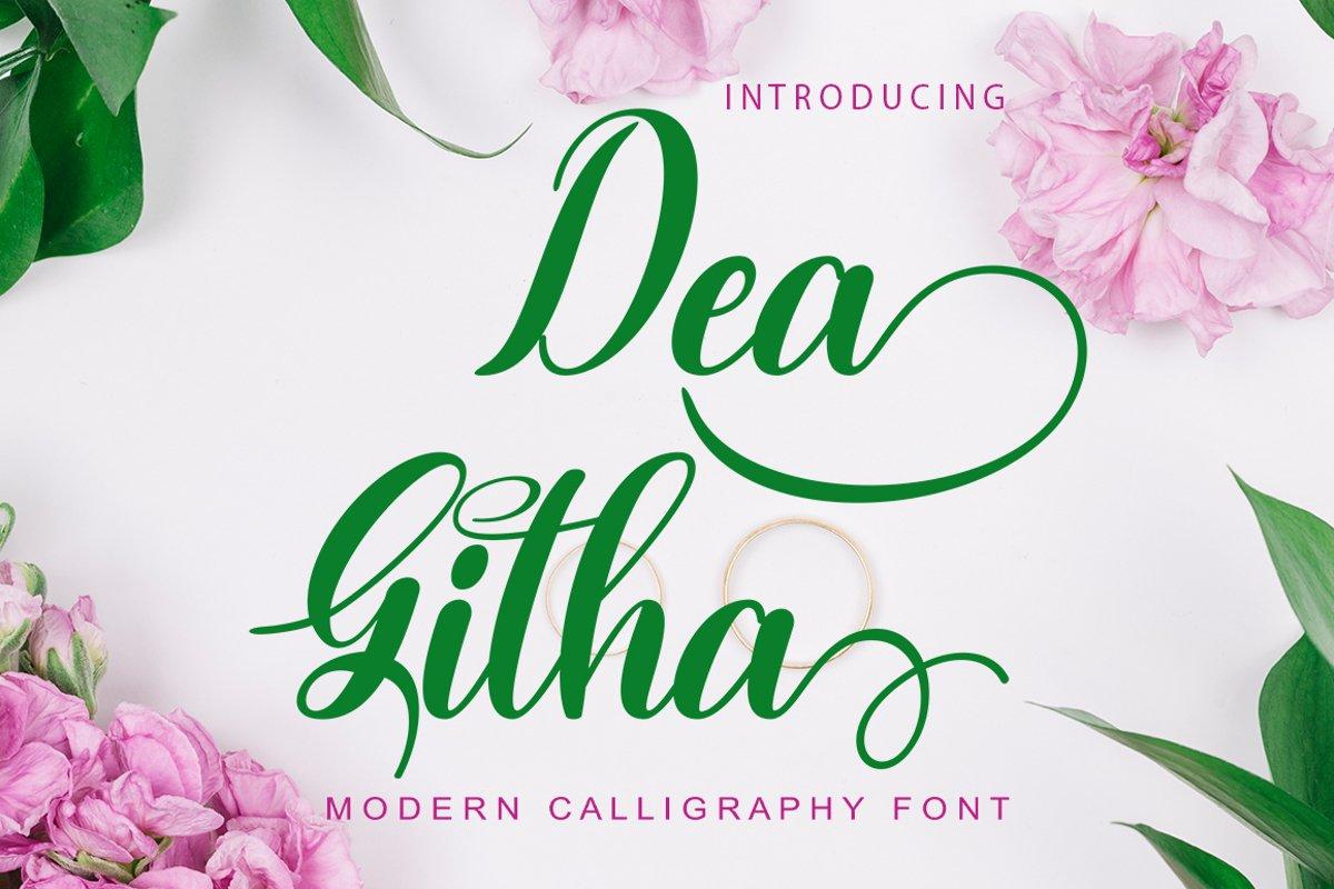 Dea Githa Script example image 1