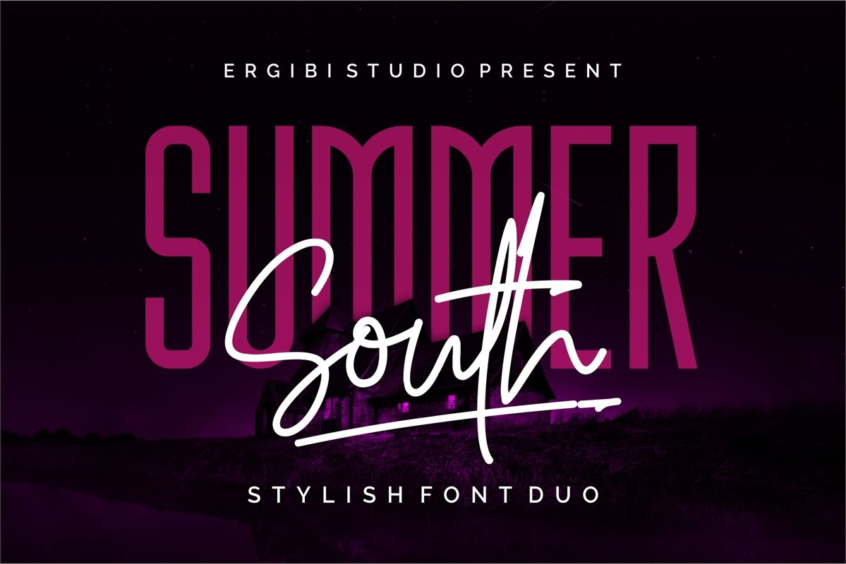 Summer South - STYLISH FONT DUO example image 1