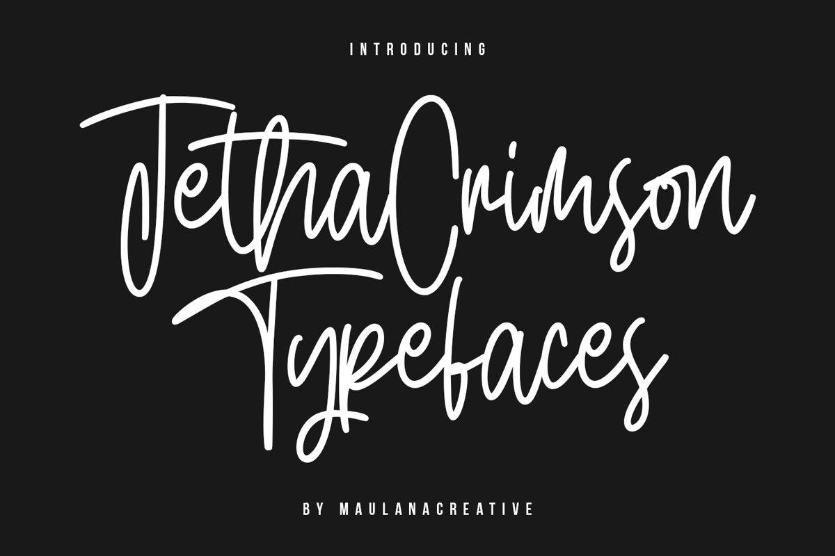 Jetha Crimson Signature Brush Font Typeface example image 1