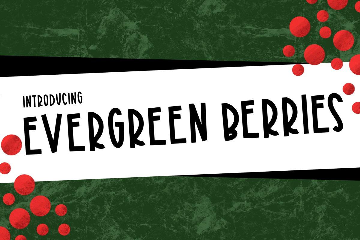Evergreen Berries a Joyful Font example image 1