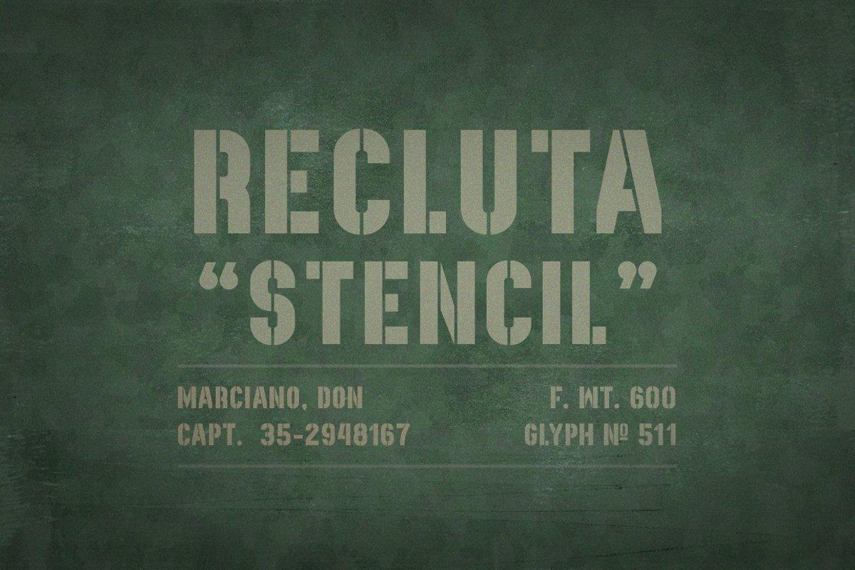 Recluta Stencil example image 1