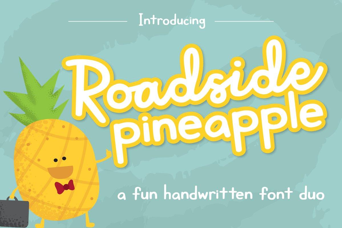 Roadside Pineapple Font Duo example image 1