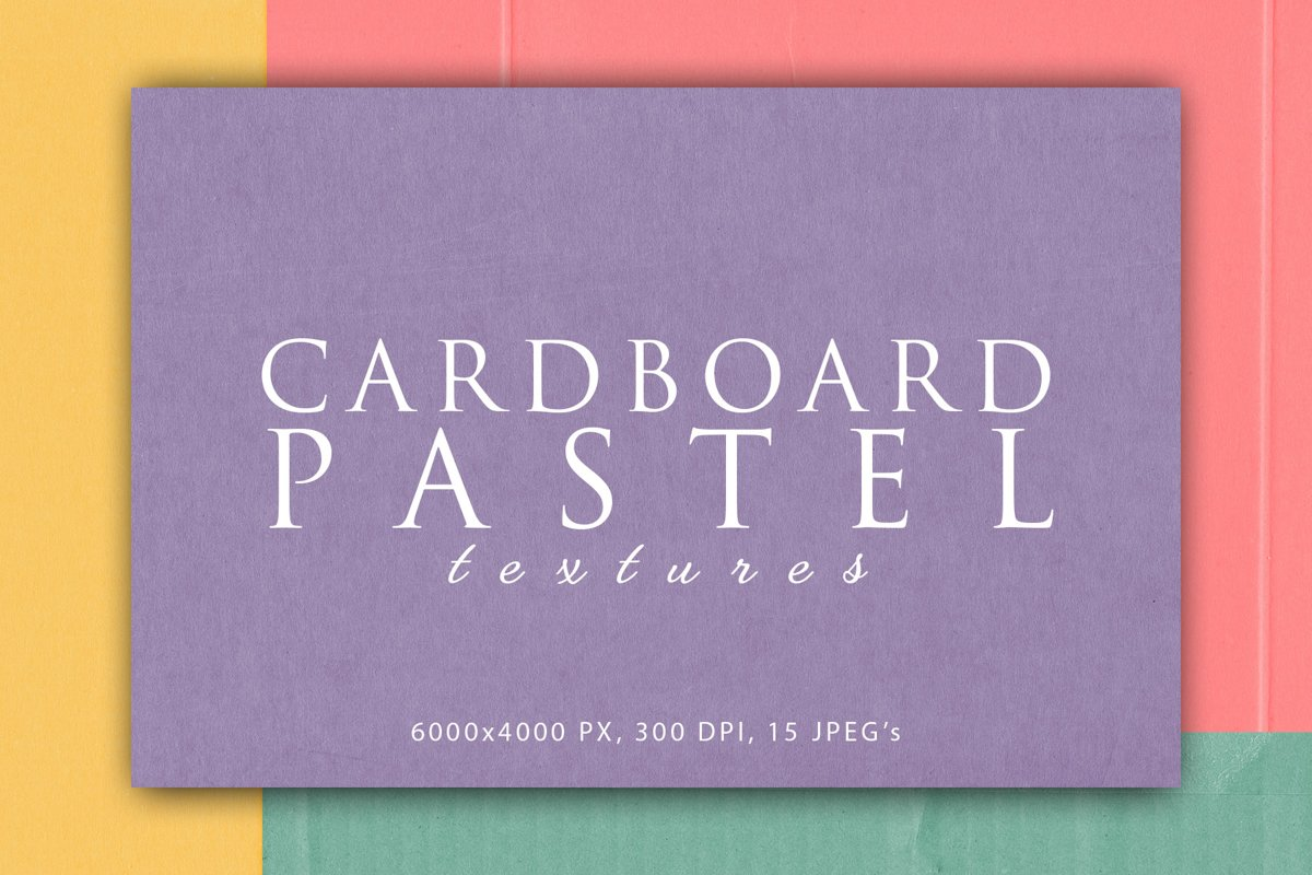 Pastel Cardboard Textures 2 example image 1