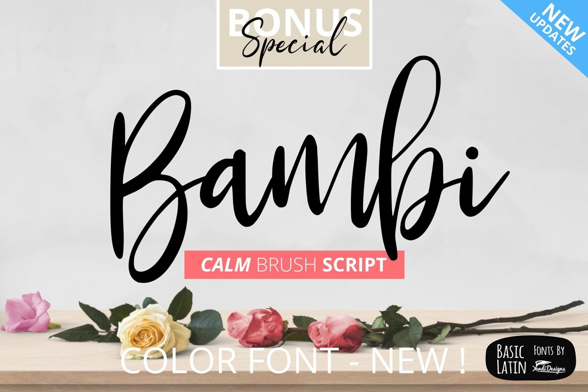 Bambi Font New Extras ! example image 1