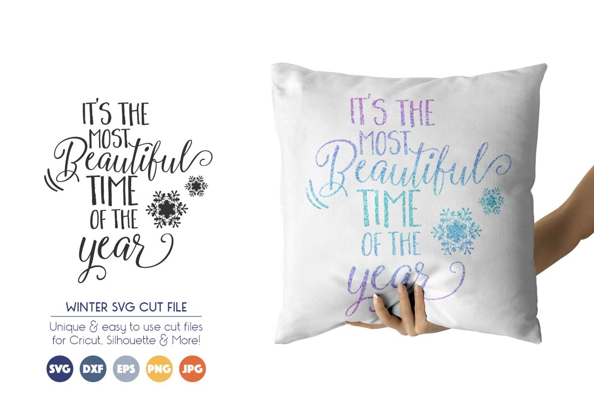 Winter, Christmas SVG Files - Most Beautiful Time example image 1