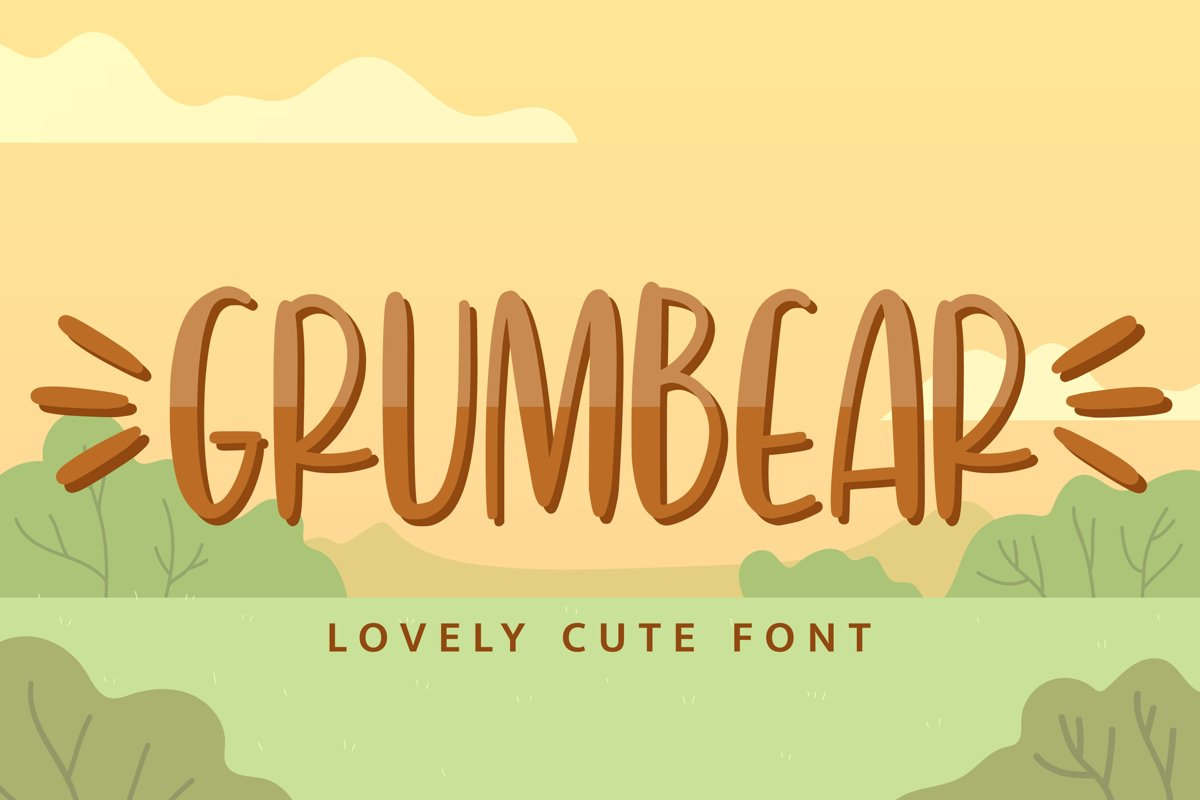 Grumbear - Lovely Cute Font example image 1
