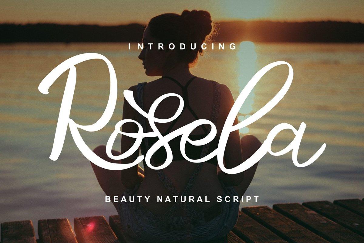 Rosela   Beauty Natural Script Font example image 1