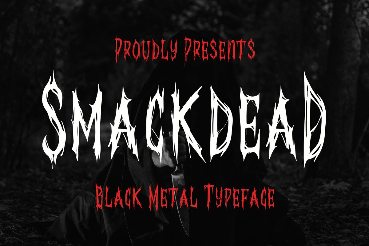 Smackdead - Black Metal Typeface example image 1