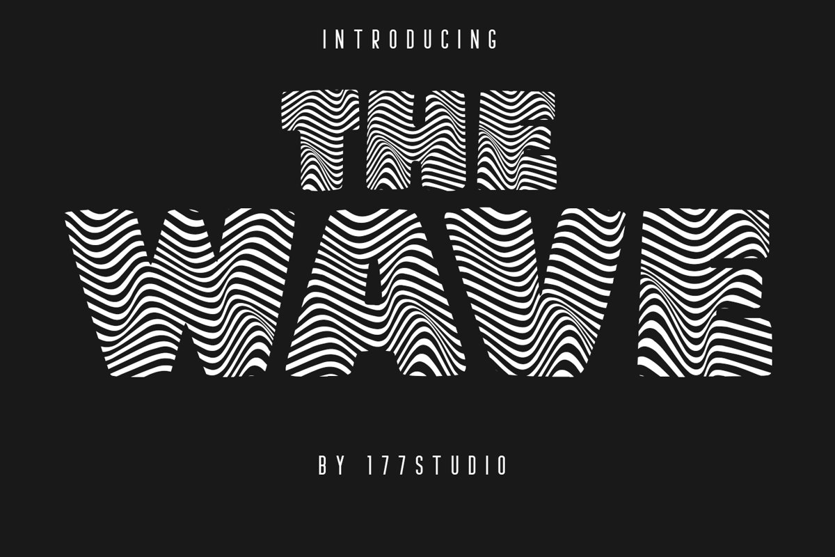 The Wave Font example image 1