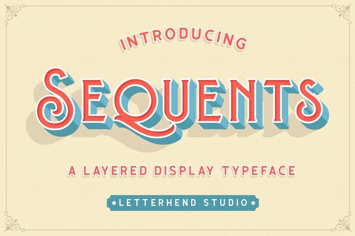 Sequents - Layered Font ORNAMENT example image 1