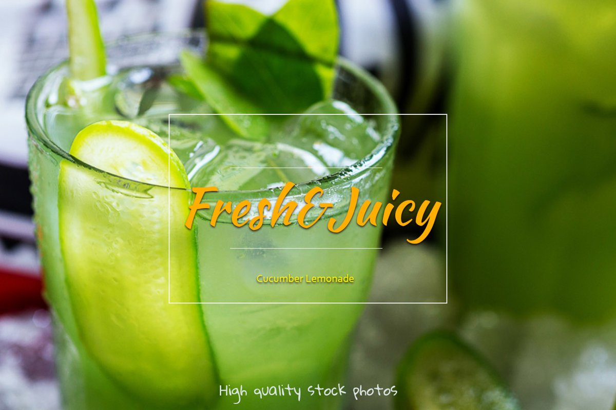Cucumber Lemonade. Refreshing vegetable drink with mint. example image 1