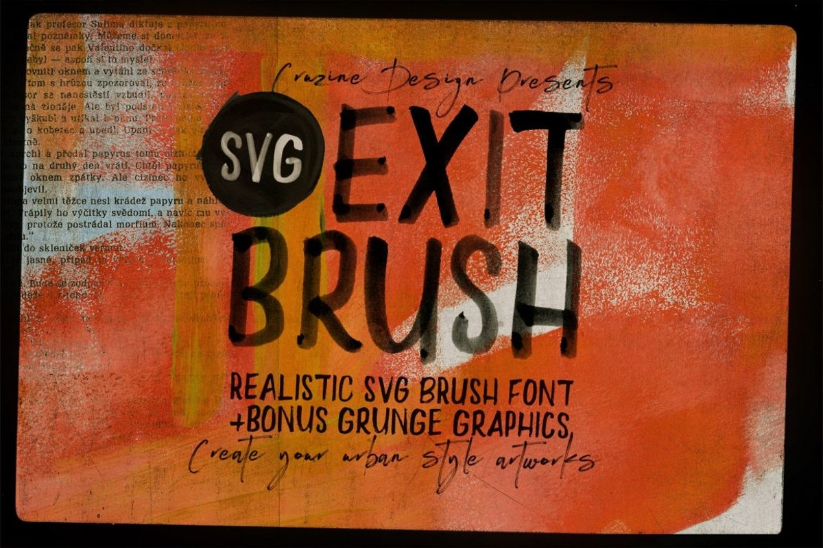 Exit Brush & SVG Font example image 1
