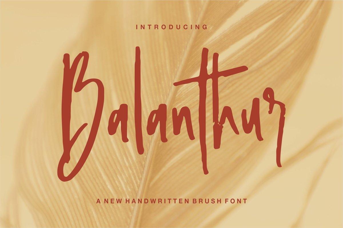 Balanthur - A New Handwritten Brush Font example image 1