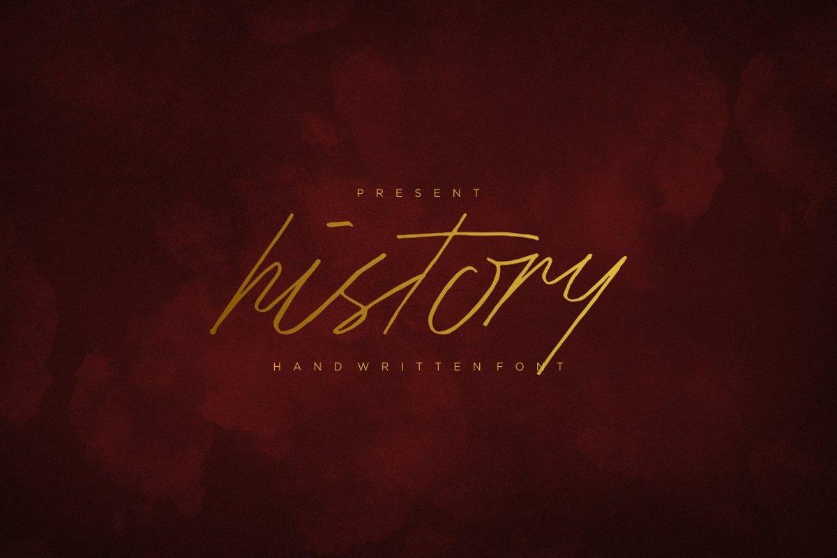 History Script Font example image 1