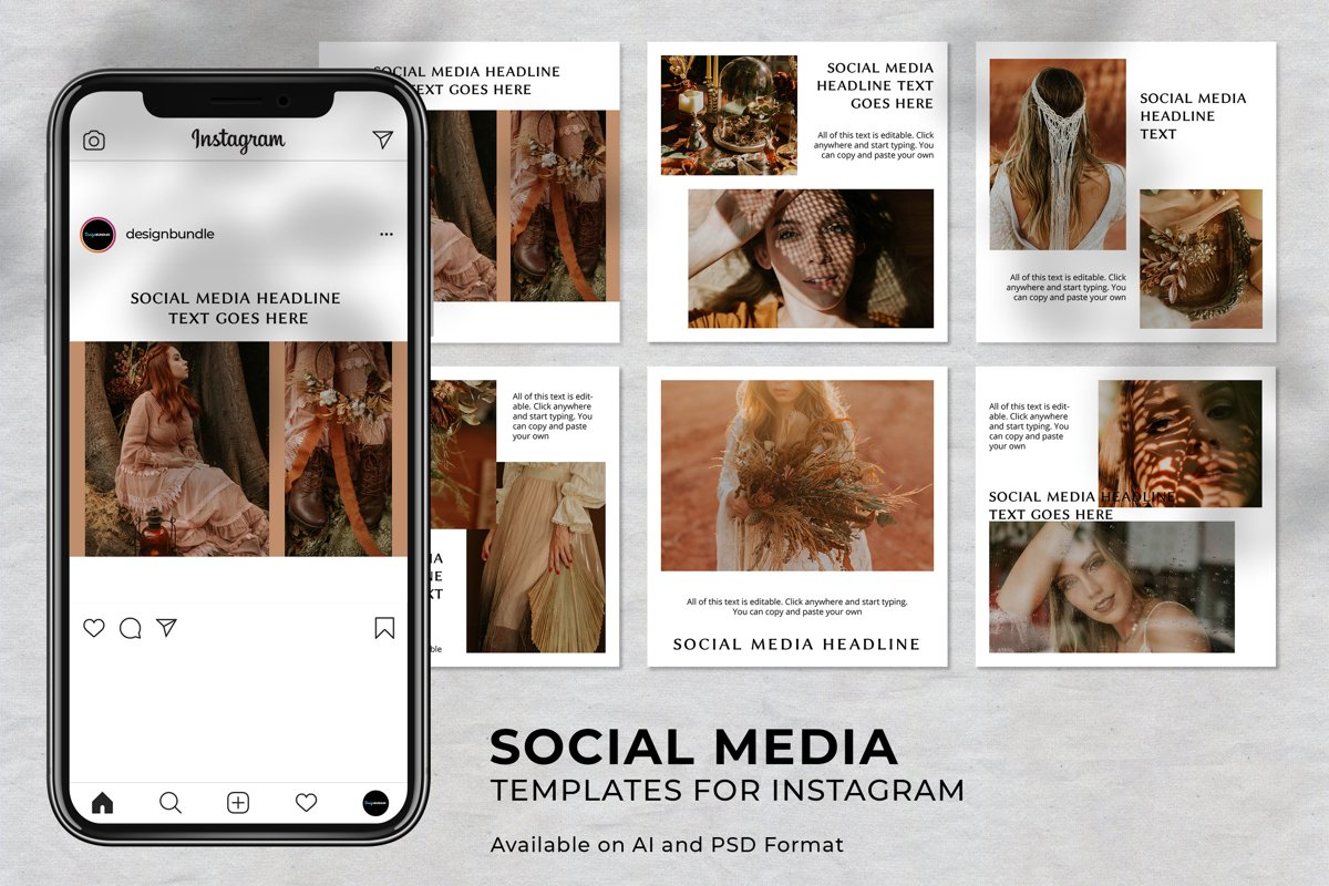 Fashion Instagram Social Media Template example image 1