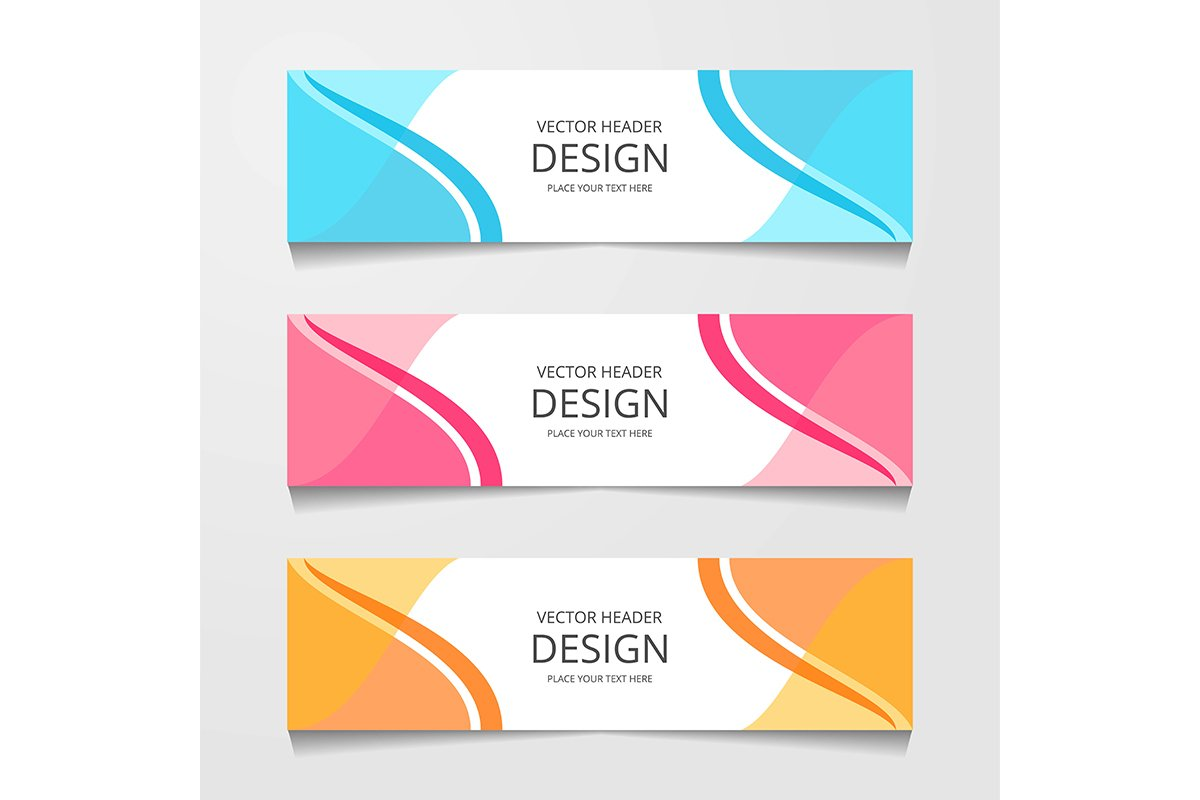 Abstract design banner, web template, layout header template example image 1