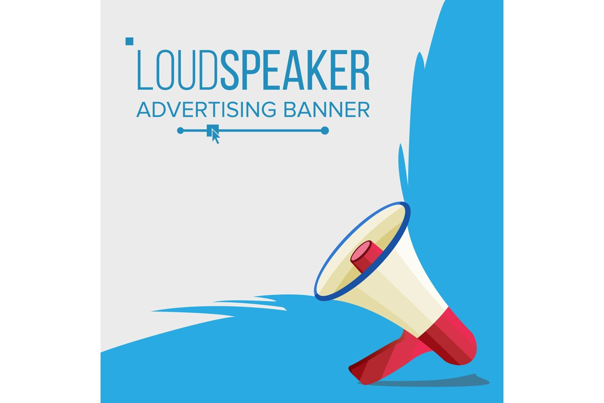 Megaphone Banner Vector. Elections Symbol. Banner For example image 1