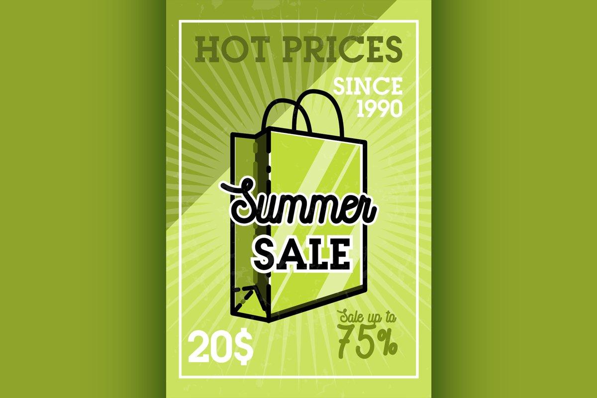 Color vintage summer sale banner example image 1