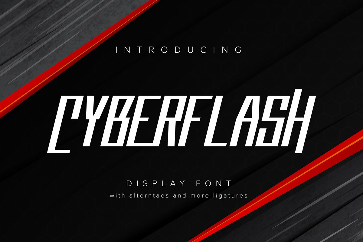 Cyberflash | Display Font example image 1