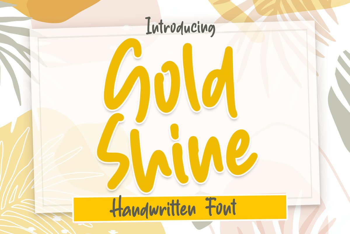 Gold Shine - Handwritten Font example image 1