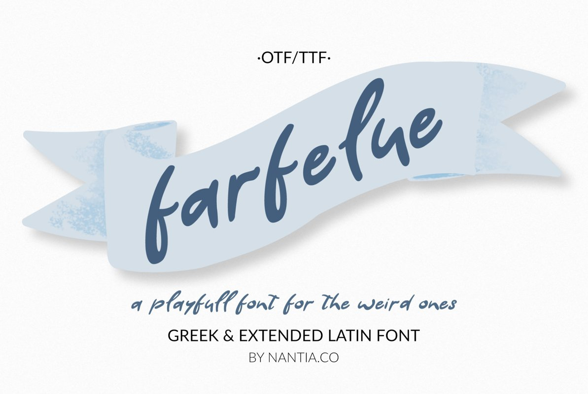 Farfelue, playful font for the weird ones! example image 1