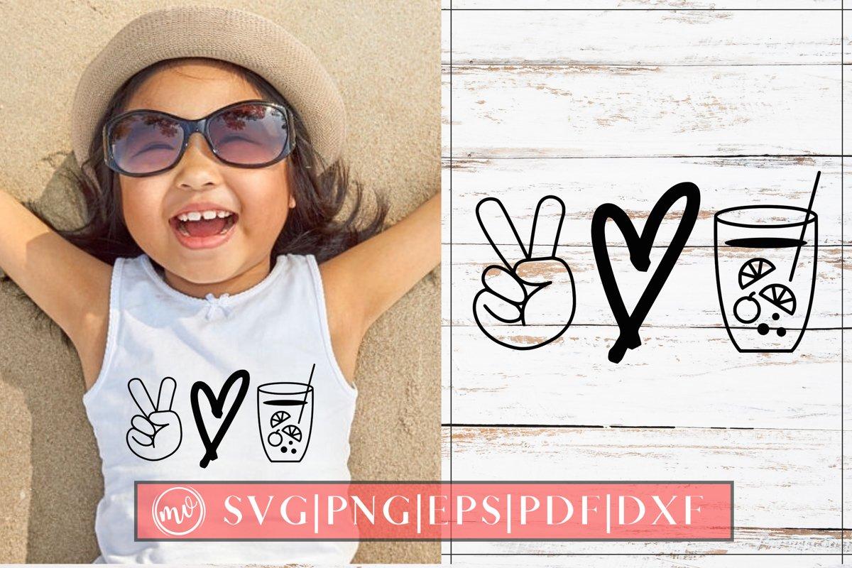 Peace Love Lemonade SVG Design Cut File example image 1
