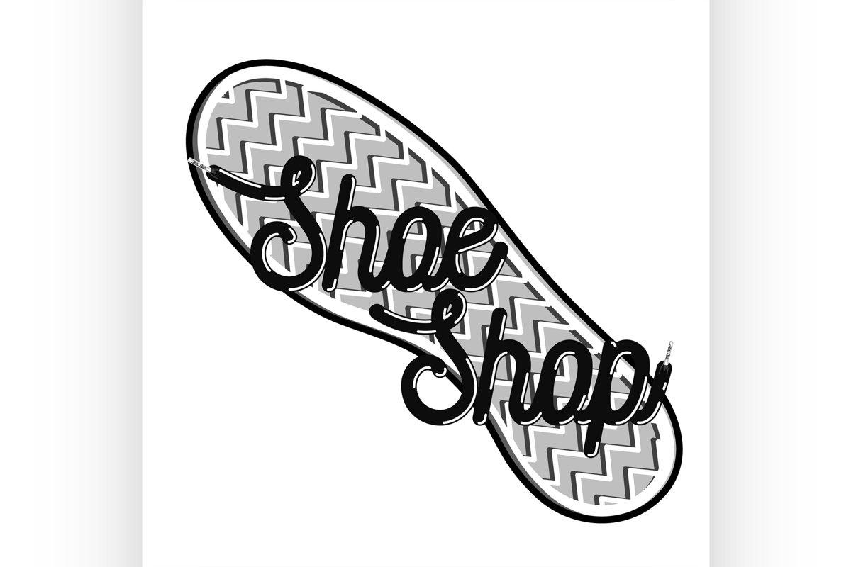 Color vintage shoe shop emblem example image 1