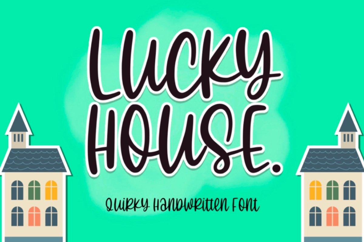 Lucky House - Quirky Handwritten Font example image 1