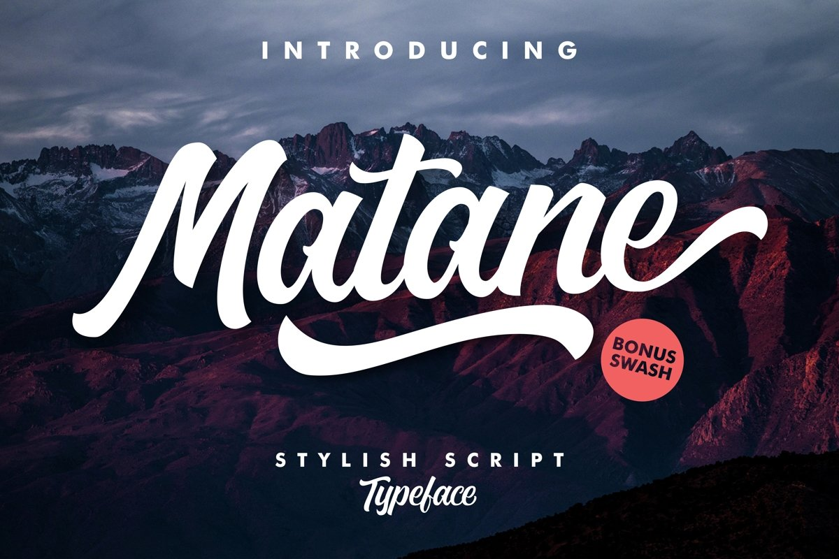 Matane Typeface example image 1