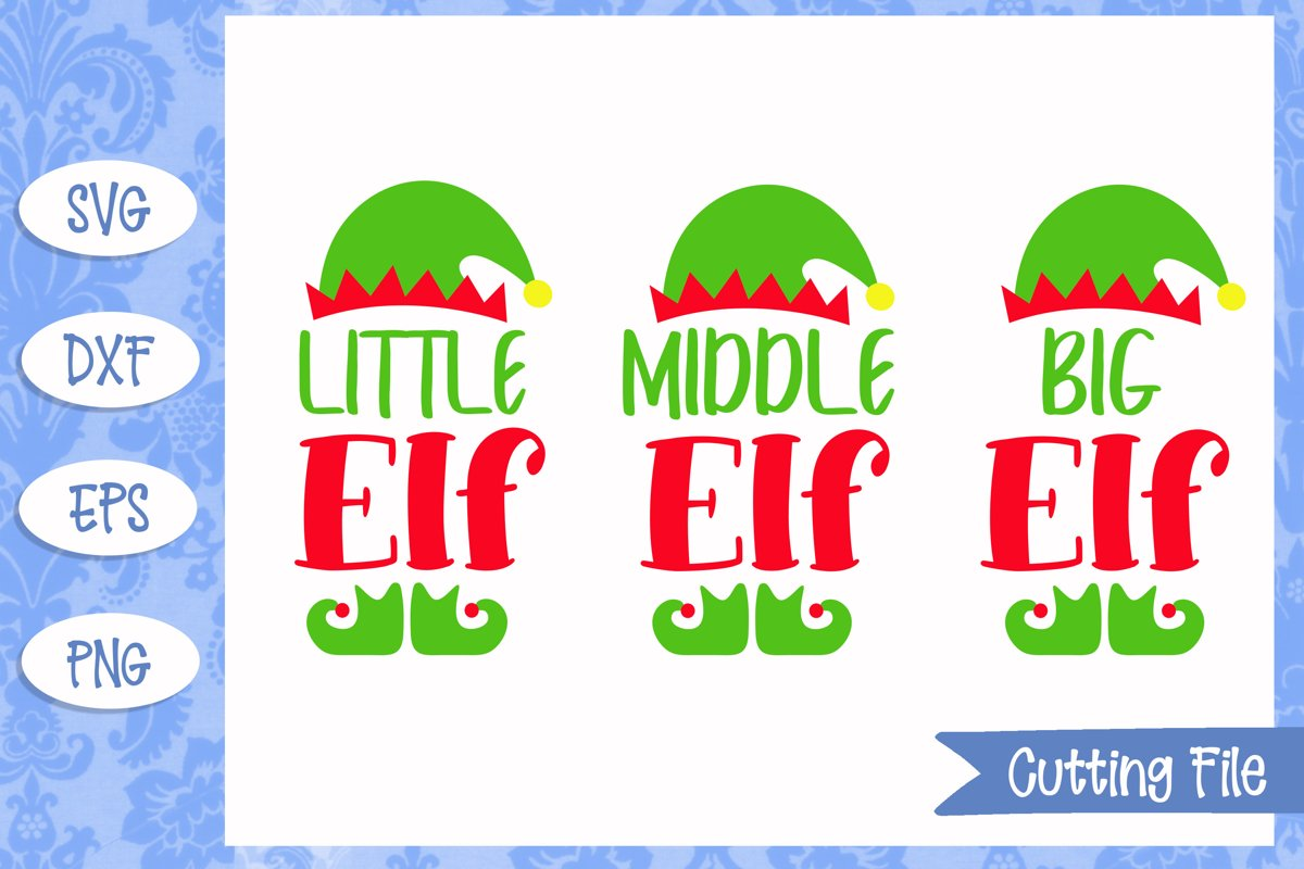 Little Middle and Big Elf SVG Cut Files example image 1