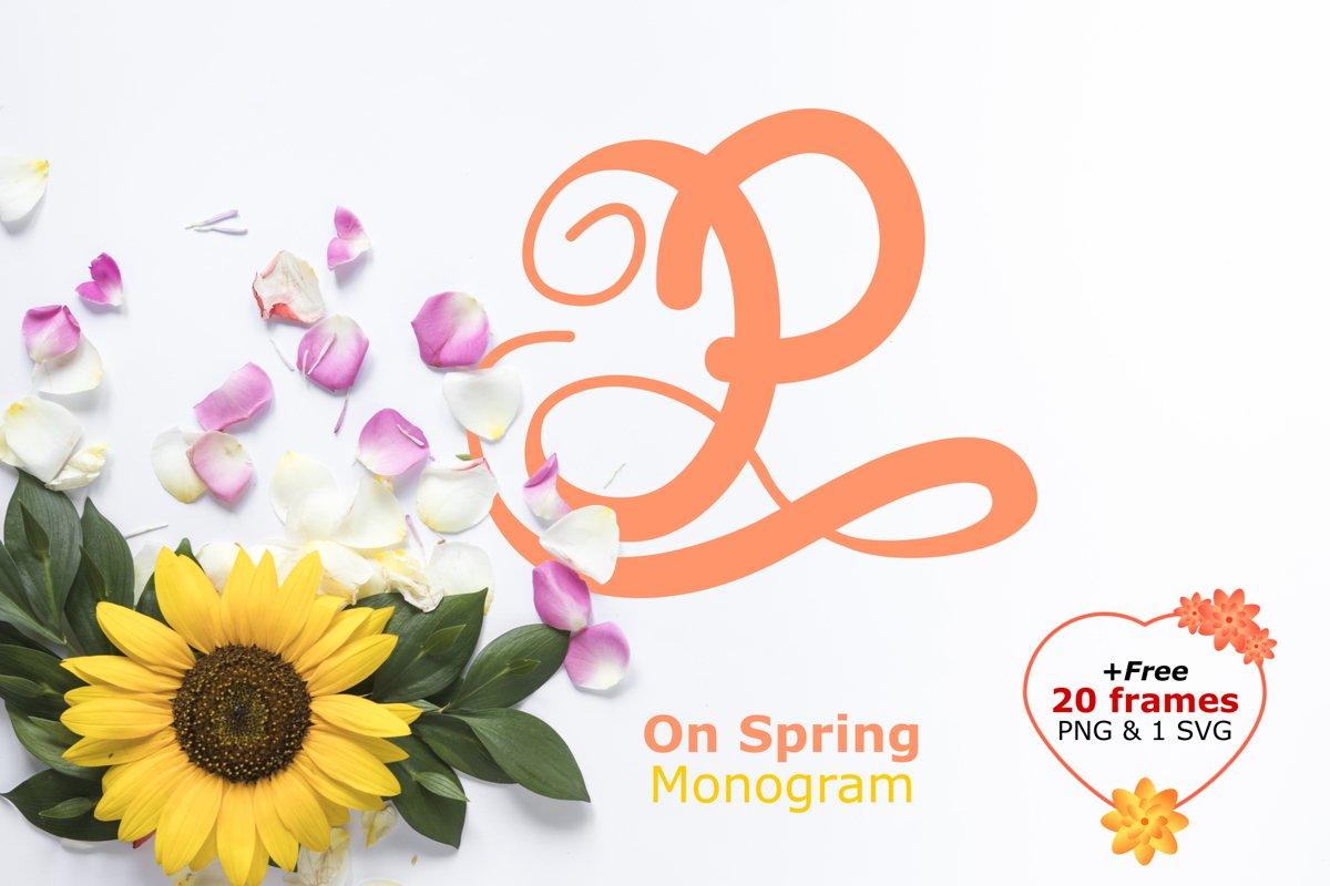 Monogram on spring example image 1