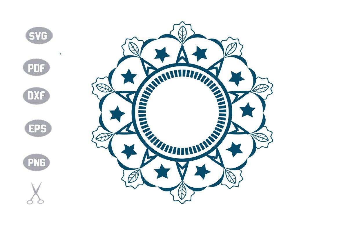 Mandala Flower Monogram SVG example image 1
