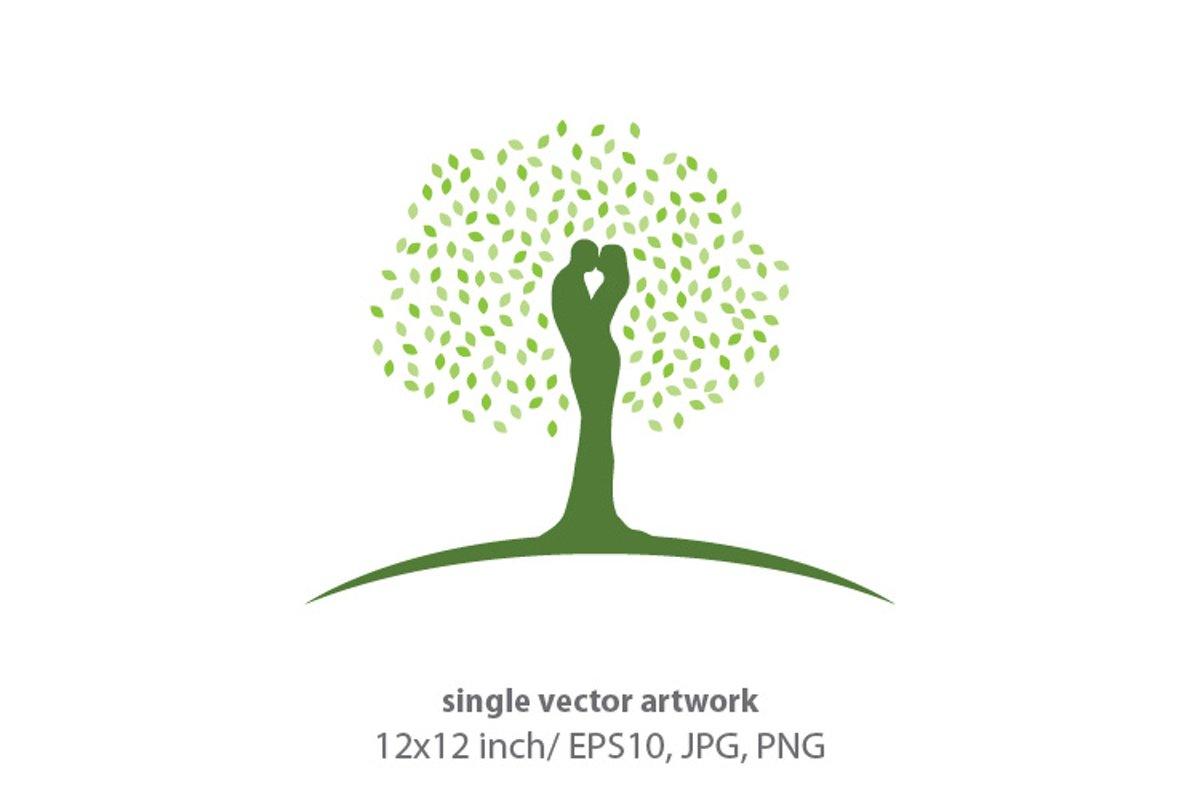 LOVERS TREE- single vector artwork example image 1