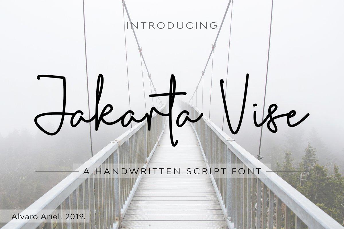 Jakarta Vise   Handwritten Script Font example image 1